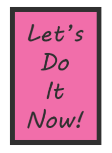 Lets Do It Now Poster