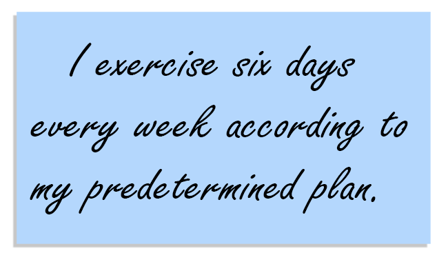 primary exercise affirmation