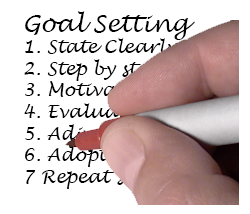 hand writing goals steps