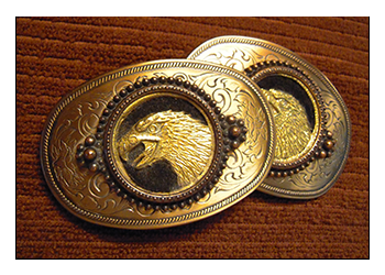 belt buckles with eagle picture